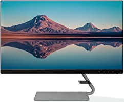 Lenovo Q-Series 23.8-inch FHD IPS Ultraslim Monitor, 2xSpeakers, 75Hz, AMD FreeSync, HDMI,VGA, Natural Low Blue Light,...