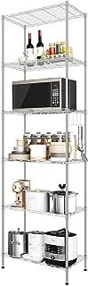 Etagere de Rangement de Cuisine Sans Installation /Étag/ères Debout//Verticales Pliable Noir Antirouille 3 Niveaux M/étal Etagere de Micro-Ondes//Fleurs//Pot//Livres Forte Capacit/é de Charge