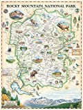 Rocky Mountain National Park Map Wall Art Poster –