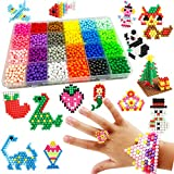 Water Fuse Beads Set, 30 Colors 3600 Pcs DIY Magic Water Sticky Beads with...