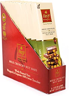 Frey Chocolat Milk Crunchy Nut Bar - 3 oz - 8 Pack Chocolates