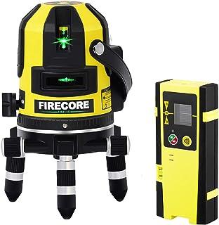 Firecore5ライン グリーンレーザー墨出し器 FIR411G レーザーレベル 高輝度 高精度 大矩 受光器対応 回転レーザー線 メーカー1年保証【最先端技術を駆使した墨だし器】【受光器セット】