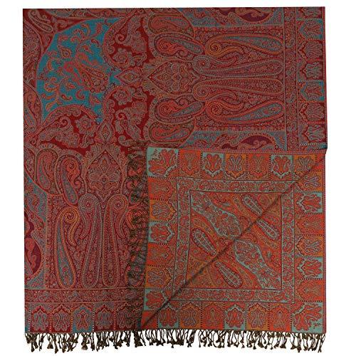 Casa Moro Orientalische XXL Bettdecke 7A Doppeltbett-Decke 220x250 cm aus 100% Baumwolle Indian-Style mit Fransen | Premium-Qualität Bettüberwurf mit Kaschmir Feeling aus Naturfaser | A945BD7A