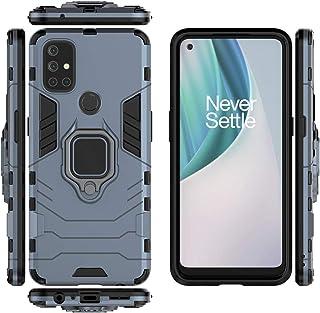 حافظة QiongNi لهاتف OnePlus Nord N10 5G حافظة حماية مع حامل مغناطيسي للسيارة لهواتف OnePlus Nord N10 5G BE2029 أزرق