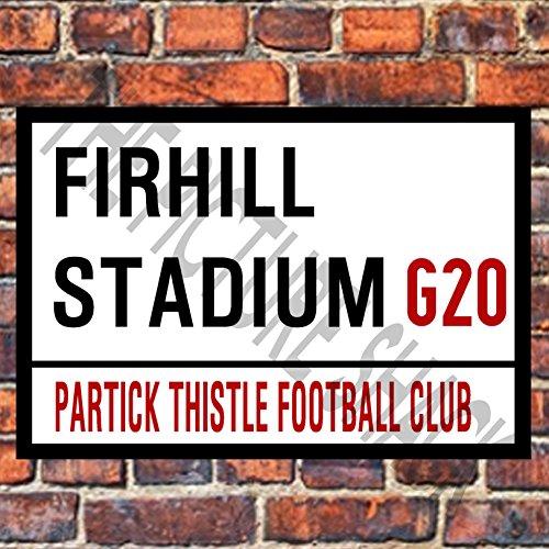 Partick Thistle, FIRHILL Stadium Street Sign ON A Tea/Coffee Coaster x 2. 9cm X 9cm