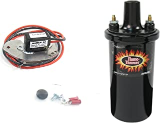 Pertronix 1181LS/40011 Ignitor & Flame-Thrower - 40,000 Volts 1.5 Ohm Coil Kit for Delco Lobe Sensor 8 Cylinder