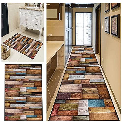 Tappeto Corridoio Passatoia 60x400cm Velluto Design Moderno Antiscivolo e Lavabile Tappeto Passatoia per Corridoio per Cucina Corridoio, D