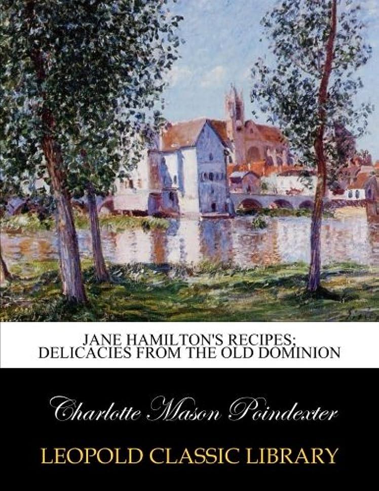 川取り替えるサイレントJane Hamilton's recipes; delicacies from the Old dominion