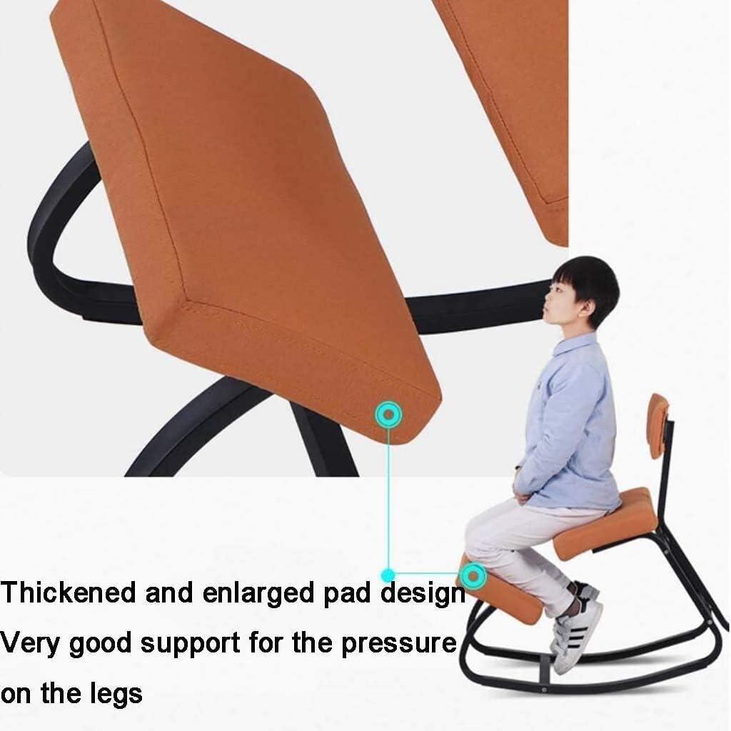 HUXIUPING Genoux Chaise Chaise de Bureau Ergonomique avec Dossier Correct Président Yoga Position Assise Informatique Président à améliorer la Posture (Color : D) B
