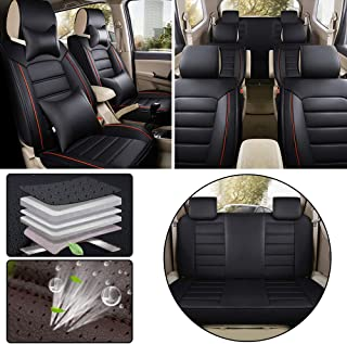 Airbag Compatible Luxury Cayenne Car Seat Covers for Toyota C-HR 2018 5-Seat Custom PU Leather Front Rear Seat Pad All Season Protetion Full Set Easy Install