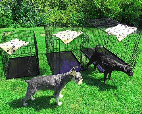 AVC Large Pet Dog Puppy Cat Metal Foldable Carry Transport Training Cage Crate (Large)