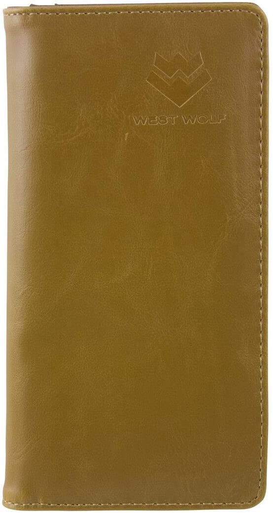 Brown Vegan Leather Logo Mens Rodeo Long Bifold Wallet - Bags and Wallets for You!