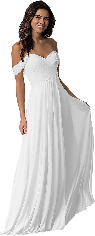 Max 66% OFF YUSHENGSM Women's Off The Shoulder Sales Chiffon Dresses Lo Bridesmaid
