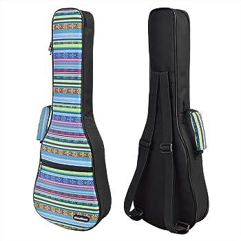 CloudMusic Funda para Ukelele Tamaño Soprano con Correas Ajustables para los Hombros y Asa para Transporte 10mm de Acolchado 55cm x 17cm Diseño Estilo Bohemio: Amazon.es: Instrumentos musicales