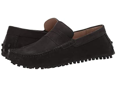 CARLOS by Carlos Santana Ritchie Driver Loafer (Black Calf Nubuck) Men