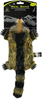 Hyper Pet Real Skinz Plush Dog Toy with Squeaker, Raccoon