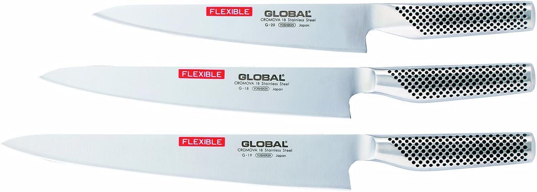 Couteau filet de Poisson professionnel. G19. Marque  GLOBAL . Lame flexible. L 270 mm.
