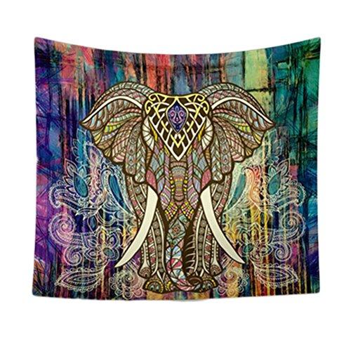 VORCOOL Indian Mandala Tapestry Elefante Impresión Toallas de Playa Yoga Mat Sun Block Ronda Bikini Cover-Up Manta 150 x 130 CM