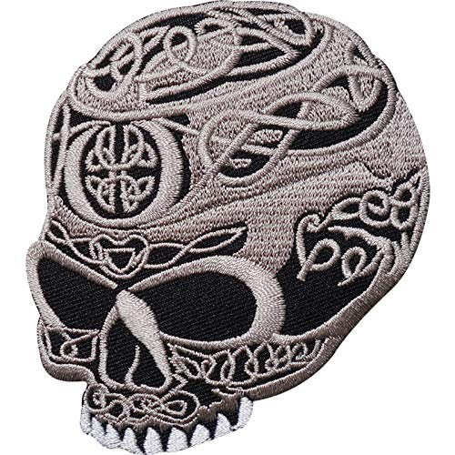 Celtic Cross Skull Embroidered Iron/Sew On Patch Biker Jacket Shirt Bag Badge