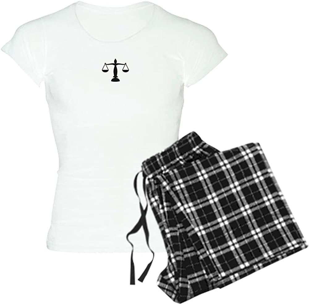 CafePress NEW Scales of low-pricing Women's Justice PJs
