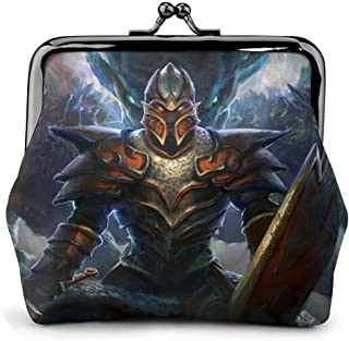 Dragon Knight Dota Coin Purse Wallet Purses Credit Cards Pouch Kiss Lock Exquisite Buckle Make Up Cellphone Change Women Leather Cash Coin Purses Wallets