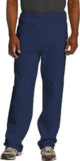 Jerzees Men's Black Adult Open Bottom Sweatpants