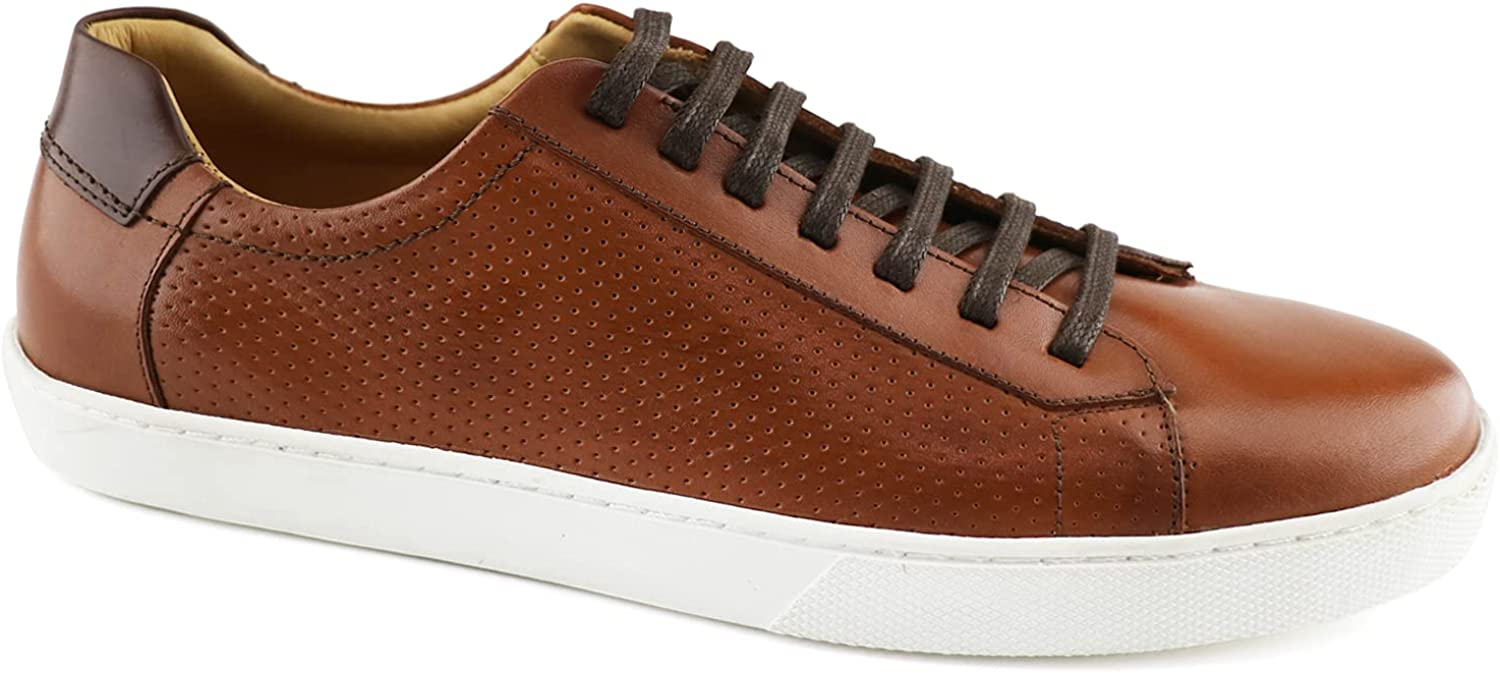 MARC JOSEPH NEW YORK Mens Fashion Sneakers Non Slip Removable Insole Breathable Comfortable Classic Business Casual Laceup Shoes