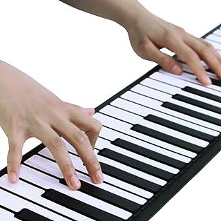 ロールピアノ 88鍵盤 電子ピアノ 折り畳み 128種類音色 88デモン曲 OTG機能 150リズム USB充電 スピーカー内蔵 イヤホン マイク対応 キーボード 楽器 初心者 練習 日本語説明書付き