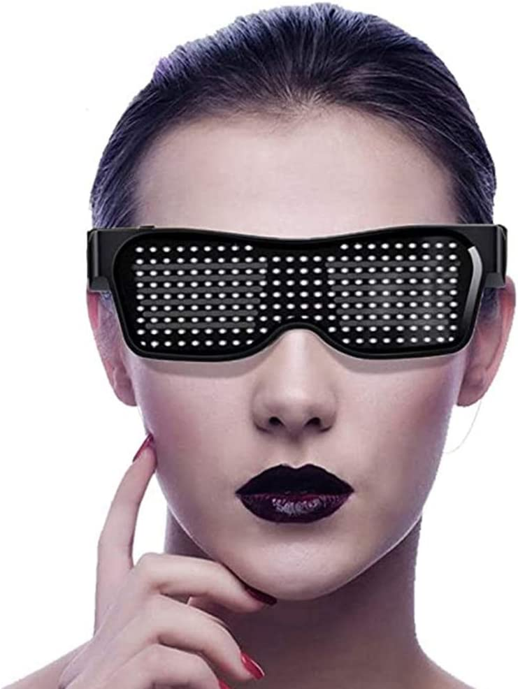 LED Customizable Our shop OFFers the best service Bluetooth Inexpensive Glasses for Di Party APP Control