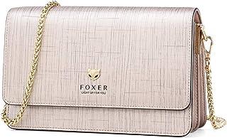 FOXER حقيبة كروس جلدية للنساء صغيرة كروسبودي محفظة كلاتش