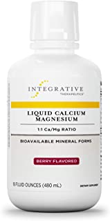 Integrative Therapeutics - Liquid Calcium Magnesium, 1:1 Ca/Mg Ratio - Bioavailable Mineral Forms - Berry F...