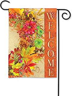 BreezeArt Studio M Autumn Wreath Decorative Garden Flag – Premium Quality, 12.5 x 18 Inches