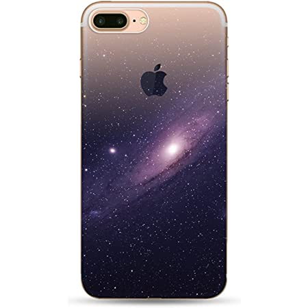 Freessom Coque iphone 6/6s Silicone Demi Transparente Motif Paysage Space Univers Dessin Noir Chic Apple Drole Kawaii Fine Design Original Fantaisie ...