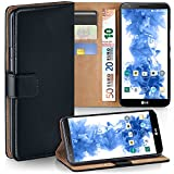 MoEx® Booklet mit Flip Funktion [360 Grad Voll-Schutz] für LG G2   Geldfach & Kartenfach + Stand-Funktion & Magnet-Verschluss, Schwarz