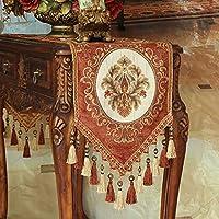 テーブルランナー 複数のタッセル花柄テーブルランナー付きタッセルダイニングパーティー、4色の刺繍の花テーブルランナー (Color : D, Size : 35*280cm)