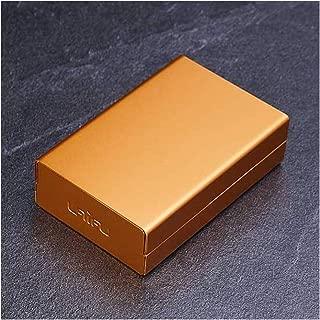 LBLMSB Cigarette Case, 20 Packs, Creative Portable Metal Aluminum Alloy Cigarette Case, Black, Red, Gold, White (Color : Gold)