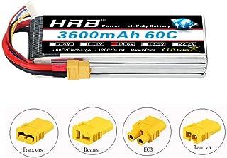 HRB 4S 14.8v 3600mAh 60C RC Lipo Battery with XT60 Plug for RC Car Boat Truck Heli Airplane (EC3/Deans/Traxxas/Tamiya