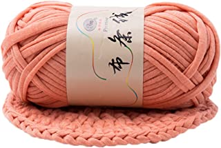 preliked Hand-Knit Woven Thread Thick Basket Blanket Braided DIY Crochet Cloth Fancy Yarn (Skin Pink)
