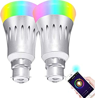 Smart Light Bulbs, 2 Pack 9W Smart Bulbs That Work with Alexa, Google Home (No Hub Required), RGB Color Changing Bulbs, A1...