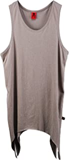 ByTheR Men's Premium Cotton Vintage Grunge Loose Summer Cool Layered Tank Top