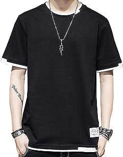 [スポシー] Tシャツ 夏 半袖 無地 ゆったり カジュアル 夏服 夏物 部屋着 涼しい 冷房対策 カットソー ビッグシルエット M ~ XL メンズ