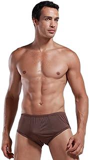 Forever Angel Men's 100% Silk Basic Stretch Boxers Briefs