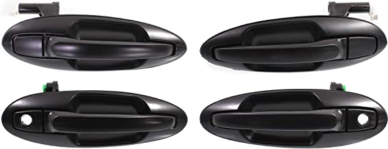 Exterior Door Handle Compatible with KIA OPTIMA/Magentis 2001-2006 Front and Rear Door Handle Right Side and Left Side Set of 4 Outside Primed Plastic Old Body Style