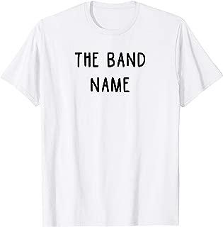 band name t shirts