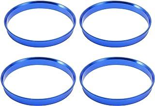 Anladia 4 Set Felgen Felge Aluminium Zentrierringe im Set 74,1 mm   72,6 mm Alu Ringe Blau Ersatz