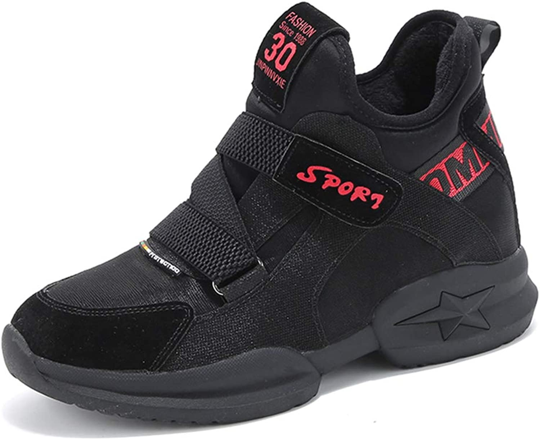 Btrada Women Casual Design Warm Black Wedge Sneakers Female Winter Chunky Platform shoes