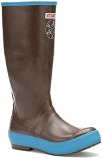 XTRATUF Women's Salmon Sisters 15 In Legacy Boot (25512), Choco/Blue W/Whale Print, 8