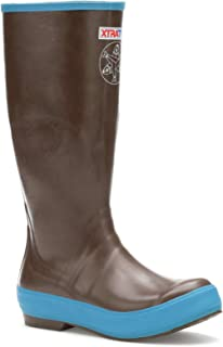XTRATUF Women's Salmon Sisters 15 In Legacy Boot (25512), Choco/Blue W/Whale Print, 9
