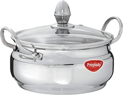 Praylady - 50291 Imperial Stock Pot with Glass Lid, 17 cm, Silver