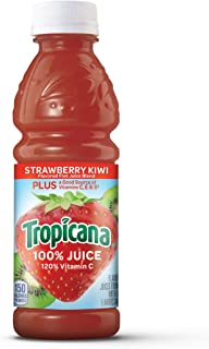 Tropicana Juice, Strawberry Kiwi, 10 Ounce (Pack of 15)